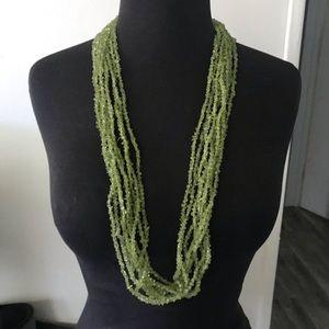 Jewelry - 9 strands of peridots